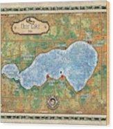 Iowa Clear Lake Custom Map Custom Map Art Wood Print