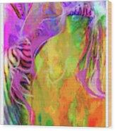 Iris Psychedelic  Wood Print