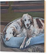Irish Red And White Setters - Archer Dogs Wood Print