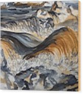 Iron Rich Water And Energy Wood Print