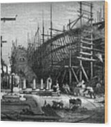 Iron Ship, Messrs Samudas Yard, Isle Wood Print