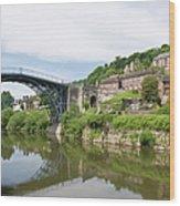Ironbridge In Telford Wood Print