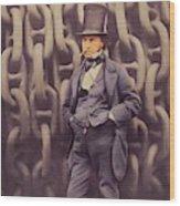 Isambard Kingdom Brunel, Genius Wood Print