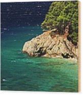 Island In The Adriatic Wood Print