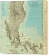 Island Of Luzon - Old Cartographic Map - Antique Maps Wood Print