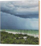 Island Rain Wood Print