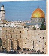 Israel, Jerusalem, Western Wall And The Wood Print
