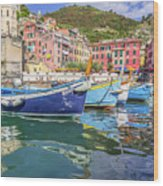 Italian Riviera Old Fashion Fishing Wood Print