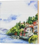 Italian Summer Vacation Wood Print