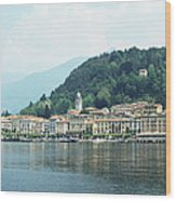 Italy, Lombardy, Bellagio On Lake Como Wood Print