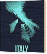 Italy Radiant Map 1 Wood Print