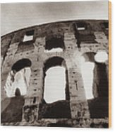 Italy, Rome, The Colosseum, Low Angle Wood Print