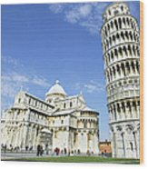 Italy, Tuscany, Leaning Tower Of Pisa Wood Print