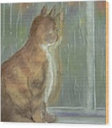 It's Raining Outside Wood Print