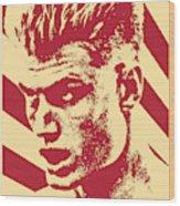 Ivan Drago Retro Propaganda Wood Print