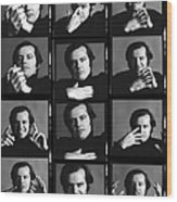 Jack Nicholson Contact Sheet Wood Print