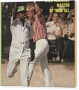 Jack Nicklaus, 1972 Masters Sports Illustrated Cover Wood Print