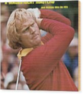 Jack Nicklaus, 1975 Masters Sports Illustrated Cover Wood Print