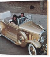 Jack Smith In Gold Plated 1931 Cadillac Wood Print