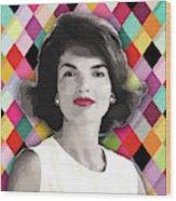 Jackie Geometric Wood Print