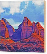 Jack's Canyon Village Of Oak Creek Arizona Sunset Red Rocks Blue Cloudy Sky 3152019 5080  Wood Print