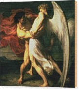 Jacob Wrestling With The Angel, 1865  Wood Print