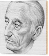 Jacques-yves Cousteau Wood Print