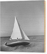 Jamaica Sea Sailing Wood Print