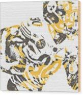 James Connor Pittsburgh Steelers Pixel Art 3 Wood Print