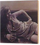 Janis Joplin Wood Print