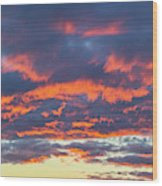 January Sunset - Vertirama 3 Wood Print