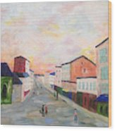 Japanese Colorful And Spiritual Nuance Of Maurice Utrillo Wood Print