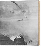 Japanese Fighter Shot Wood Print