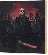 Jason Lives Wood Print