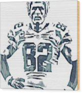 Jason Witten Dallas Cowboys Pixel Art 22 Wood Print