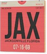 Jax Jacksonville Luggage Tag I Wood Print