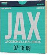 Jax Jacksonville Luggage Tag II Wood Print