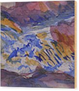 Jay Cooke Favorite Spot In Purple And Tan Wood Print