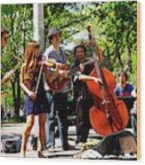 Jazz Musicians Wood Print