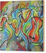 Jazz-swing Wood Print
