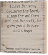 Jeremiah 29 11 Wood Print