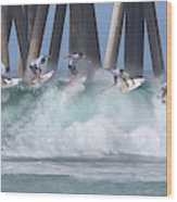 Jeremy Flores Surfing Composite Wood Print