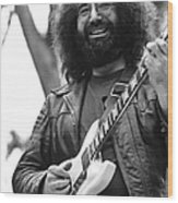 Jerry Garcia Performs Live Wood Print