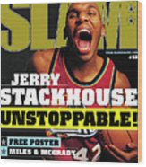 Jerry Stackouse: Unstoppable! SLAM Cover Wood Print