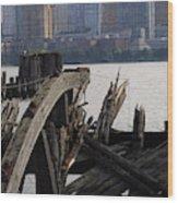 Jersey Broken Wharf IIi Wood Print