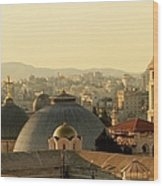 Jerusalem Churches On The Skyline Wood Print