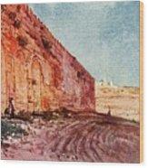 Jerusalem - The Triple Gate Wood Print