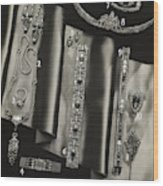 Elegant Jewelry From Tiffany And Company Wood Print