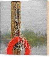 Jim Bouys Pole Wood Print