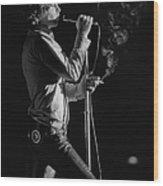 Jim Morrison Live Wood Print